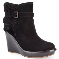 Women's Apparel | Cold Weather Shop | Suede & Sheepskin Wedge Ankle Boots | Lord and Taylor