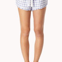 Cozy Gingham PJ Shorts