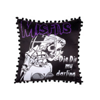 The Misfits Darling Pillow In Black/White Print | Thirteen Vintage