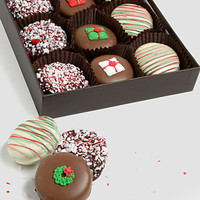 Christmas Chocolate-Covered Oreo Cookies