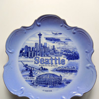 Vintage Seattle Washington State Souvenir Plate 1970s