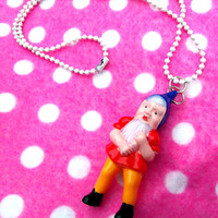 Kitsch Garden Gnome Necklace