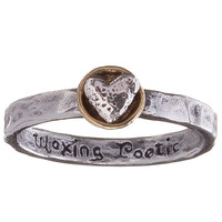 Waxing Poetic Ring Talisman Heart