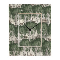 Belle13 My Deer Secret Forest Rectangular Clock