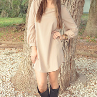 The Run Around Dress: Tan