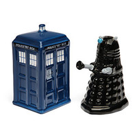 Doctor Who TARDIS vs. Dalek Salt and Pepper Shakers