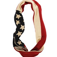 Red/White/Blue American Flag Scarf