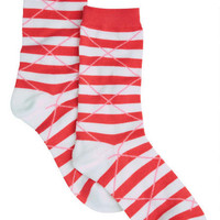 Argyle Stripe Socks