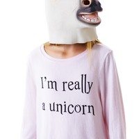 I'm Really A Unicorn Baggy Beach Jumper