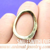 SALE - Simple Round Cut Out Ring in Brass Size 5 ONLY