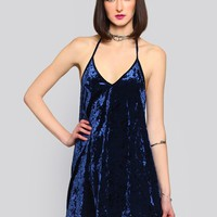 BLUE CRUSH HALTER DRESS