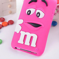 【Cute】3D Lovely Soft Silicone Case Cover Protect For Apple Ipod Touch 4 4TH Gen