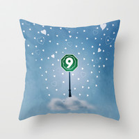 Cloud Nine Throw Pillow by Richard Casillas