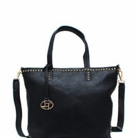 Squarely-There-Studded-Handbag BLACK - GoJane.com