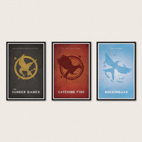 The Hunger Games Trilogy Poster Series - Hunger Games, Catching Fire, Mockingjay