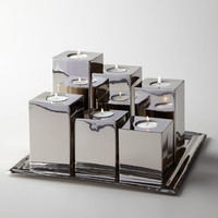Luka Tea Light Holders & Tray