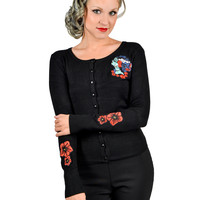 Bride of Frankenstein Cardigan Black
