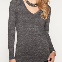 Metallic V-Neck Sweater | Sweaters | rue21
