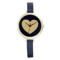 Titanium Glitter Heart Double Wrap Watch, 24mm (Juniors) | Nordstrom