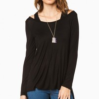 SHELLEY TOP IN BLACK