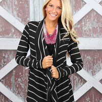 Autumn Gaze Cardi Black/Gray