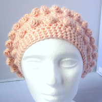 Winter Blush Alpaca Bobble Beret