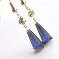 BUY ANY 4-Choose 1 FREE..Crystal drop earrings fashion unique handcraft jewelry affordable christmas gift