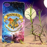 Halloween harry potter Hogwarts in galaxy Design - Photo Print for iPhone 4/4s, iPhone 5/5s/5C, Samsung S3 i9300, Samsung S4 i9500 Hard Case