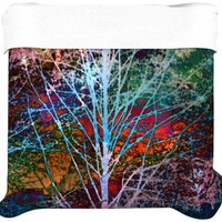 Kess InHouse 68 by 88-Inch Sylvia Cook Trees in The Night Duvet Cover, Twin