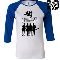 5 Seconds Of Summer Album Cover 3/4 Sleeve Baseball Ladies Jersey - TeeeShop