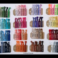 33% Off, YOU PICK 15 COLORS Elastic Hair Ties - Christmas Gift, Stocking stuffer, grab bag