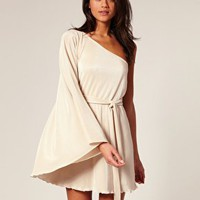 ASOS | ASOS Pleated Swing One Sleeve Dress at ASOS
