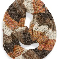 BP. Stripe Mixed Knit Infinity Scarf (Juniors) | Nordstrom