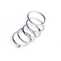 SILVER STACKABLE MOON RING SET