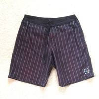 Men's RVCA Striped Board Short SZ: 38
