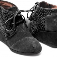 TOMS+ Black Serpentine Desert Wedges
