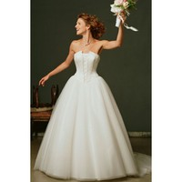 Amazing Organza Satin Gown with Beadings and Sequins