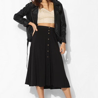 Ecote Button-Down Midi Skirt-