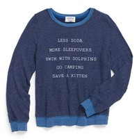 Wildfox 'New Year's Resolutions' Sweatshirt (Big Girls) | Nordstrom