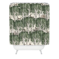Belle13 My Deer Secret Forest Shower Curtain