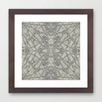 Snowflake Framed Art Print by Project M