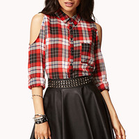 Forget-Me-Not Plaid Shirt | FOREVER 21