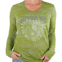 Grateful Mom - Green Long Sleeve Vintage Tee