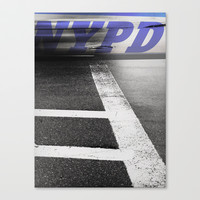 nypd Stretched Canvas by Deadly Designer