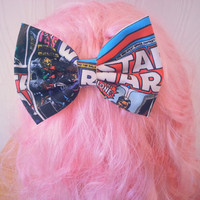 Star wars / Star wars hair bow / girls hair bow / girls hair bow clip / fabric hair bow / hair bow /comic book hair bow / dc comics hair bow