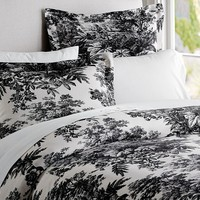 MATINE TOILE DUVET COVER & SHAM - BLACK