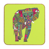Sharon Turner Painted Elephant Chartreuse Wall Art
