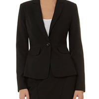 Black one button jacket