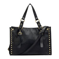Retro Punk Style Cool Rivet Black Handbag Shoulder Bag