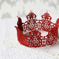 The Red Queen Crown - royalty, halloween costume, queen of hearts, princess